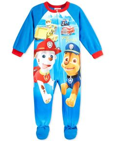 Ame Toddler Boys  Paw Patrol One-Piece Footed Pajama Cute Boy Outfits 55ac924c9cf