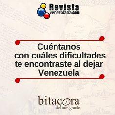Queremos leerte y contar tu historia en #BitácoraDelInmigrante.  En Revista Venezolana somos un medio de comunicación para los venezolanos en el exterior.  Escríbenos; todos tenemos una historia desde que dejamos Venezuela.  #VenezolanosEnElExterior #Venezuela #VenezolanosEnMiami #VenezolanosEnEspaña #VenezolanosEnPanamá #Historia