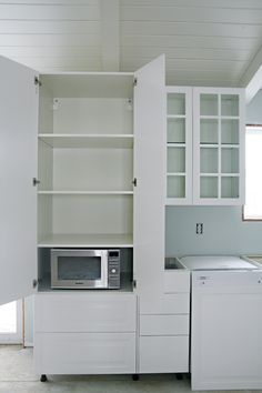 51IHeart Kitchen Reno: IKEA Cabinet Installation. I Love The Idea Of Having  The Microwave