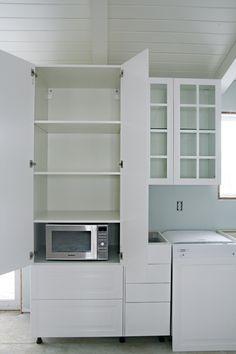 51IHeart Kitchen Reno: IKEA Cabinet Installation. I Love The Idea Of Having  The Microwave