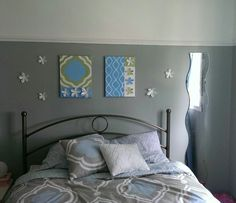 Chambre et toiles déco Bed, Furniture, Home Decor, Handmade, Canvases, Bedroom, Homemade Home Decor, Stream Bed, Home Furnishings