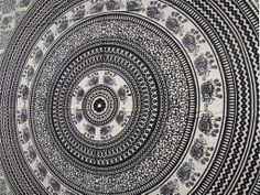 Hippie Tapestries   ... Elephant Hippie Mandala Psychedelic Wall Hanging Tapestry Throw Ethnic