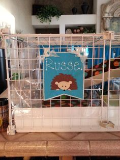 Hedgehog Pennant for Cage Personalized on Etsy, $10.00