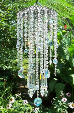 Moons and Stars Antique Crystal Wind Chime. $194.95, via Etsy.