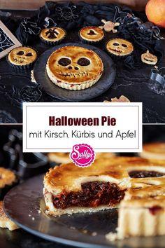 Die spooky-season nähert sich langsam! Diese süßen Halloween Pies / Tartes sind eine perfekte Snack-Idee für die nächste Halloween Party. Nach Belieben könnt ihr die Füllung auch komplett umgestalten. Ich finde vor allem die gruseligen Gesichter sehr süß! #sallys #sallyswelt #sallysweltrezept #rezept #recipe #halloween #halloweenpie #tartes #halloweentartes #einfachesrezept #partysnack #süßersnack #halloweenparty #schnellesrezept #einfachbacken #kürbis #hokkaido #apfel #kirsche #kürbisrezept Halloween Party Snacks, Snacks Für Party, Waffles, Cheesecake, Muffin, Breakfast, Desserts, Food, Pie