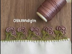 İLK DEFA FISTIK OYASI YAPTIM - YouTube Embroidery On Clothes, Lace Embroidery, Saree Kuchu Designs, Saree Tassels, Warm Blankets, Needle Lace, Lace Flowers, Scarf Styles, Utila