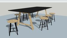 3D Model of Bykato table with Nam Stools