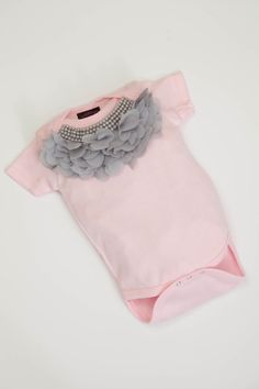 Hey, I found this really awesome Etsy listing at https://www.etsy.com/listing/150645826/baby-girl-pink-one-piece-short-sleeve