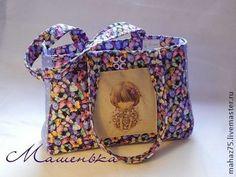 """Сумка """"Полет бабочки"""" - фиолетовый,рисунок,пляжная сумка,сумка,женская сумка"""