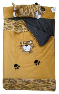 """$17.99-$24.99 Baby Imperial MW1218 Toddler Nap Mat - Sleeping Bag with Plush Pillow Tiger - Nap Mat toddler sleeping bags come with great push animal pillow friends. Its great for any ages of kids. Confirms to ASTM Safety Standards for Ages 0 and up. Made of super soft plush cuddle material. Mat size is 43"""" x 27"""". Easy to roll up and carry. Its spot clean only. http://www.amazon.com/dp/B0072OMKB4/?tag=pin2baby-20"""