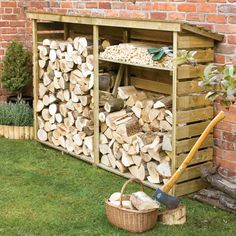 Buy Large log store: Delivery by Waitrose Garden in association with Crocus