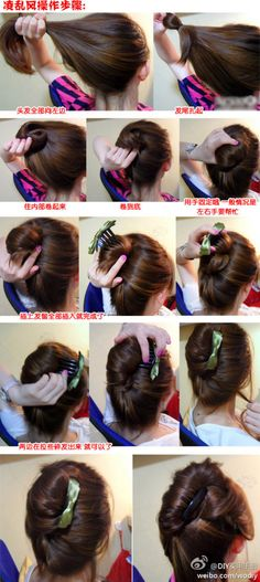 French twist tutorial with hair comb accessory
