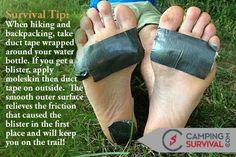 Survival Tip when hiking take duct tape http://campingtentlover.com/comfortable-ways-to-sleep-in-a-tent/