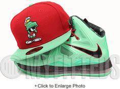 Marvin The Martian Classic Looney Tunes Scarlet Isle Green Cutting Jade Nike Lebron X New Era Hat