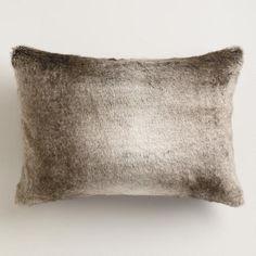 Gray Faux Fur Lumbar Pillow | World Market Reg. $24.99