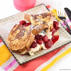 Mascarpone and Raspberry Stuffed French Toast