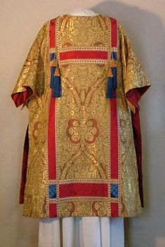 Altar Hangings Davis d'Ambly - - Liturgical Artist - - Cloth-of Gold Dalmatic from a solemn set with red damask orphreys.