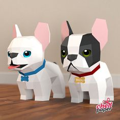 Cool Paper Crafts, Paper Crafts Origami, Dog Crafts, Crafts To Make, Papercraft Download, Halloween Flowers, Origami Flowers, Paper Toys, Diy Art