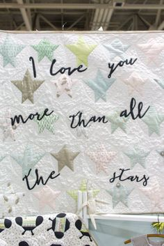 Darling Little Dickens star quilt pattern - with writing - by Lydia Nelson for Moda Fabrics. Spring 2016 Quilt Market.