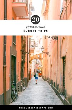 Even if you're not traveling to Europe, these pictures and ideas are worth a look. Here's 20 Perfect One Week European Itineraries European Vacation, European Destination, European Travel, Backpacking Europe, Europe Travel Tips, Places To Travel, Travel Hacks, Travel Ideas, Travel Advice