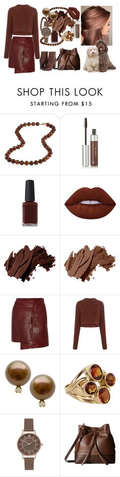 """Hot chocolate"" by yfantjie ❤ liked on Polyvore featuring DaVonna, Anastasia Beverly Hills, Kester Black, Lime Crime, Bobbi Brown Cosmetics, Isabel Marant, TIBI, Olivia Burton, Lodis and Frye"