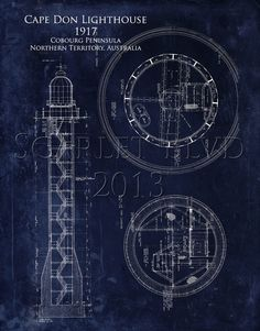 Light house blueprint wall art cape hatteras lighthouse 8 x 10 architectural blueprint art print cape don by scarletblvd on etsy 2500 malvernweather Images