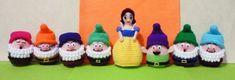 Crochet Snow White & Seven Dwarfs Egg Warmer Amigurumi- Finish Doll. via Etsy.