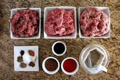South African 'farmers sausage' using lamb, pork and beef with spices. Sausage Making, How To Make Sausage, Farmer Sausage, Wild Game Recipes, Ground Lamb, Coriander Seeds, Bacon, Spices, Pork