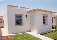 Casa sencilla pequeña con dos habitaciones en el diseño Small House Plans, My Dream Home, Home Remodeling, Facade, Sweet Home, Shed, 1, Outdoor Structures, House Design