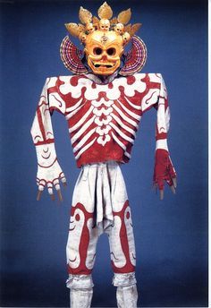 Tibetan skeleton costume