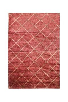 Maroc Hand Knotted Rug - Red