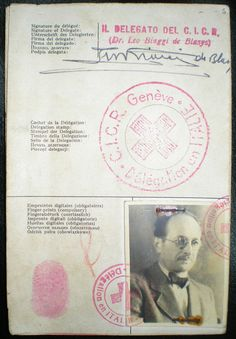 "Red Cross passport under the name of ""Ricardo Klement"" that Adolf Eichmann used to enter Argentina in 1950"