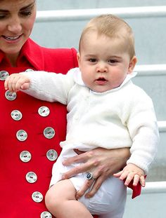 Prince George stole the show at Wellington Airport when he and his parents, Kate Middleton and Prince William, arrived in New Zealand for their royal tour