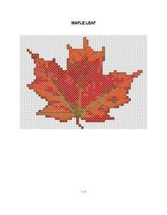 Small Autumn and Halloween cross stitch patterns