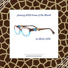 Jan 2018 - La Matta 3156 Start the new year in style with these animal inspired frames. These frames are bold and have lots of personality! Jan 2018, Optometry, Personality, Frames, Animal, Inspired, Inspiration, Style, Biblical Inspiration