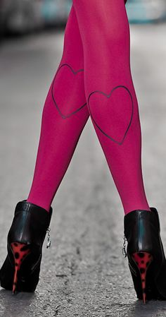 These Zohara designer heart Print Tights feature a trendy, fashionable and unique Grey Hearts print on a classic 120 denier Pink tights. The colourful pattern is printed on Both legs back side. These fashion tights are ideal to wear with mini skirts or plain shorts to make you stand out. Zohara tights caters to any occasion to keep your look trendy, fun and original.