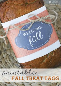 Printable tags for Fall treats - perfect for gifting and sharing with neighbors!