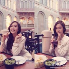 "Jessica's Weibo: ""Have a lovely afternoon"" Kim Hyoyeon, Sooyoung, Yoona, Selca, Kwon Yuri, Krystal Jung, Ice Princess, Jessica Jung, 2ne1"