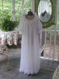 Vintage TOSCA PEIGNOIR Nightgown Set Glamorous by JustSimplyDivine, $125.00