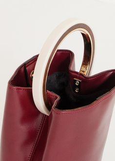 Round Handle Burgundy Clutch Bag – The Frankie Shop Burgundy Bag, Hand Bags, Clutch Bag, Leather Bag, Cuff Bracelets, Minimalist, Felt, Handle, Collection