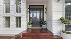 Sleek design with clean lines using Scyon Linea weatherboards, perfect for a Hamptons style Home!