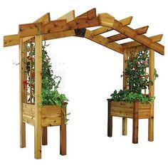 cedar pergola garden pergola with planter benches free shipping