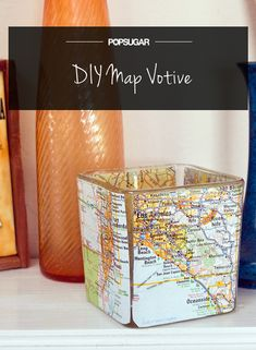 Set the Mood With a DIY Map Votive