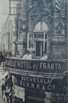 BUCURESTI -  Calea VICTORIEI , Hotel de FRANTA - 1910 Brasov Romania, Bucharest Romania, Romanian Girls, Old City, Old Pictures, Time Travel, Vintage Photos, Tourism, Buildings