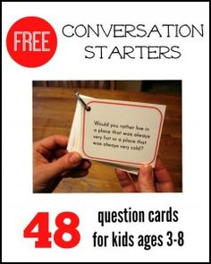 These FREE conversation starters for kids are great for long summer trips in the car!