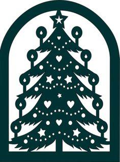 Tulosta joulukuusi tai kaupunkisilhuetti ikkunaan Custom Metal Art, Christmas Deco, Crafts, Diy, Christmas Decor, Manualidades, Bricolage, Do It Yourself, Handmade Crafts