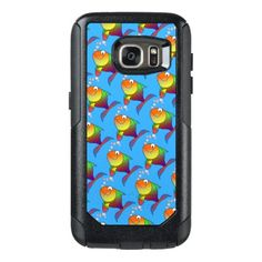 Cute Joyful Goldfish in Sea Light Blue OtterBox Samsung Galaxy S7 Case - diy cyo customize create your own personalize