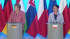 Angela Merkel besucht Polen. Dort zeichnete Premierministerin Beata Szydlo ihre…