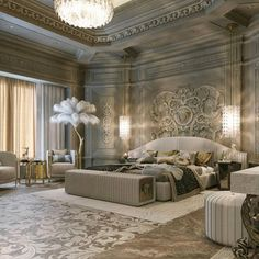 Amazing 32 Best Furniture Stores For Bedroom Sets Furniture; Get the look of trendy bedroom sets you desire for an untouchable … Mansion Interior, Luxury Homes Interior, Luxury Home Decor, Home Interior Design, Bedroom Sets, Home Bedroom, Modern Bedroom, Master Bedroom, Contemporary Bedroom