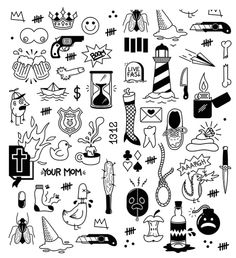 Choose from 60 top Doodle stock illustrations from iStock. Find high-quality royalty-free vector images that you won't find anywhere else. Kritzelei Tattoo, Doodle Tattoo, Doodle Drawings, Easy Drawings, Doodle Art, How To Doodle, Doodle Illustrations, Mini Tattoos, Small Tattoos